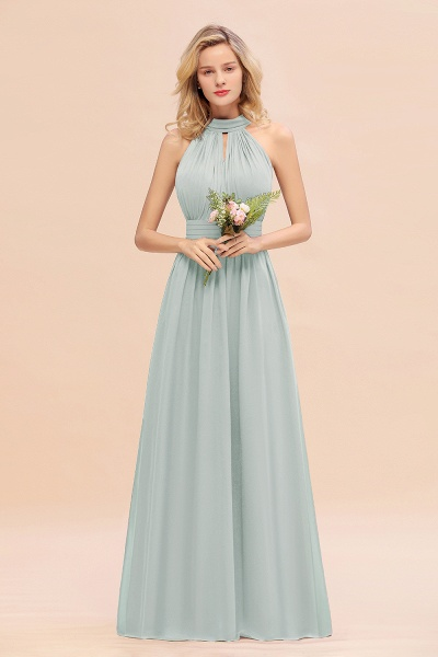 BM0758 Glamorous High-Neck Halter Bridesmaid Affordable Dresses with Ruffle_38