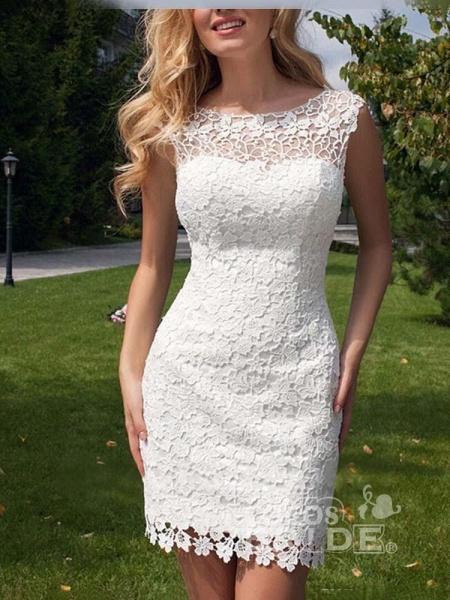 Elegant Sleeveless Backless Lace Tulle Wedding Dresses_3