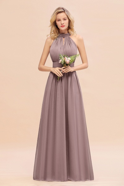 BM0758 Glamorous High-Neck Halter Bridesmaid Affordable Dresses with Ruffle_37