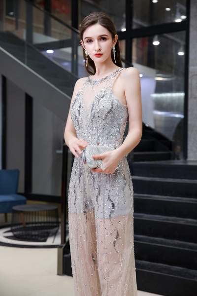 Jewel Sleeveless Tulle Evening Jumpsuit with Sequins_6