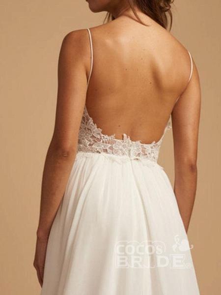 Beautiful Spaghetti Strap Backless Tulle Wedding Dresses_5