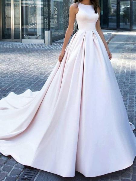 Gorgeous Sweep Train Ruffles Wedding Dresses_1