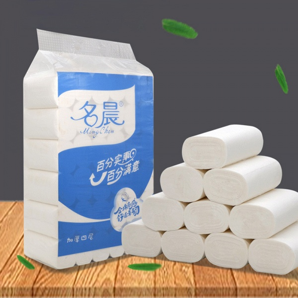 Wholesale Home Bath Toilet Roll Paper Fast Shipping Primary Wood 10 Rolls