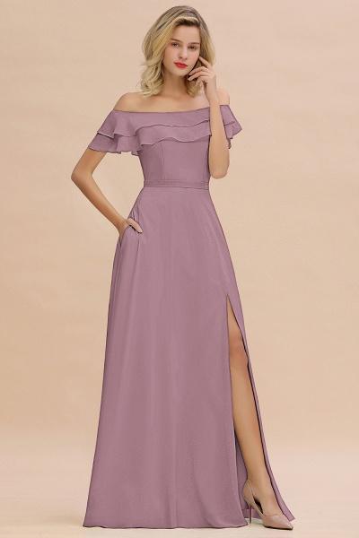 BM0775 Off-the-Shoulder Front Slit Mint Green Long Bridesmaid Dress_43