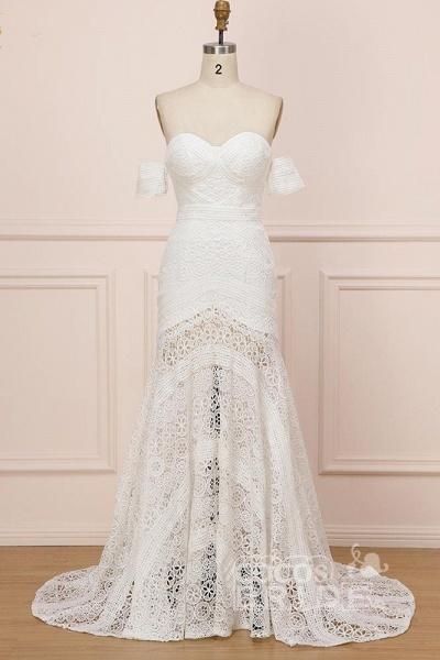 Modest Sweetheart Neck Lace Beach Sexy Boho Wedding Dress_3