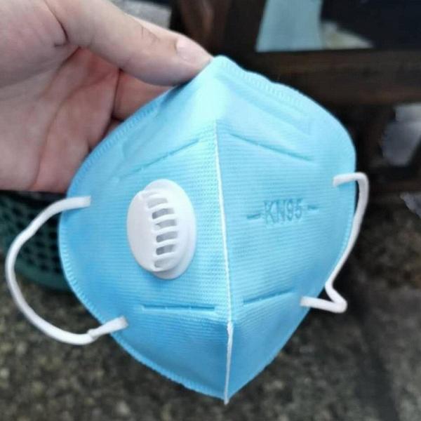 5 Pcs KN95 Valved Dustproof Face Mouth Mask PM2.5 Pollution & Haze Respirator