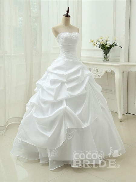 Gorgeous Sweetheart Beaded Ball Gowns Lace-Up Wedding Dresses_4