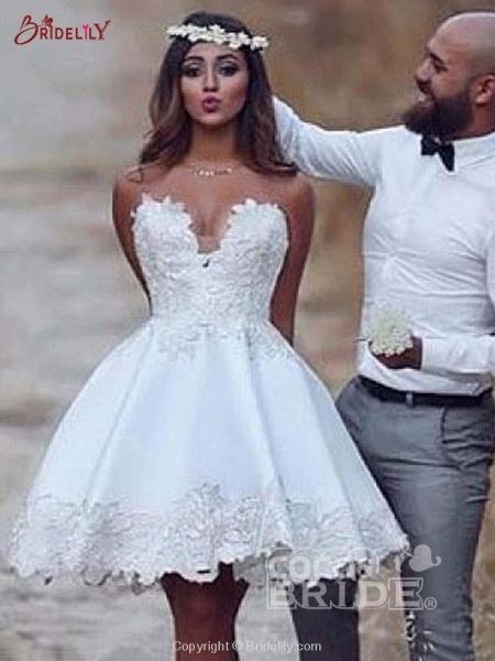 Super Cute Lace A-Line Wedding Dresses_3