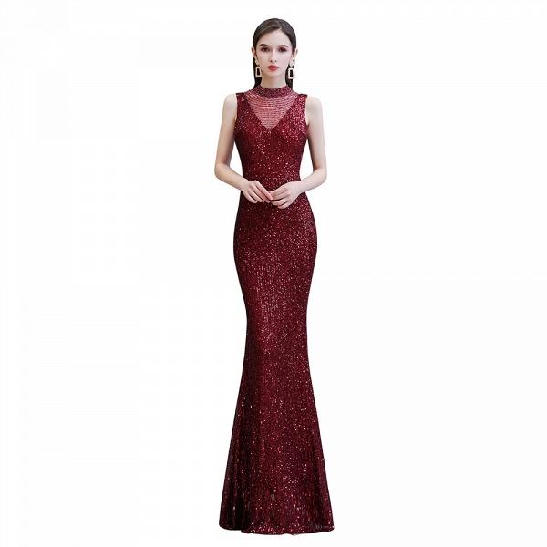 Gorgeous Mermaid Burgundy Sequins Long Prom Dress_8