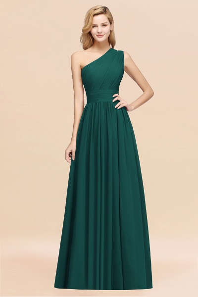 Elegant A-Line Burgundy Chiffon One-Shoulder Sleeveless Ruffles Floor-Length Bridesmaid Dresses_33