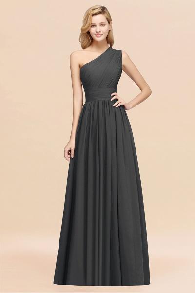 Elegant A-Line Burgundy Chiffon One-Shoulder Sleeveless Ruffles Floor-Length Bridesmaid Dresses_46