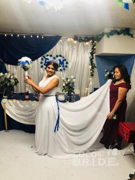 O-Neck Appliques A-Line Wedding Dresses_4