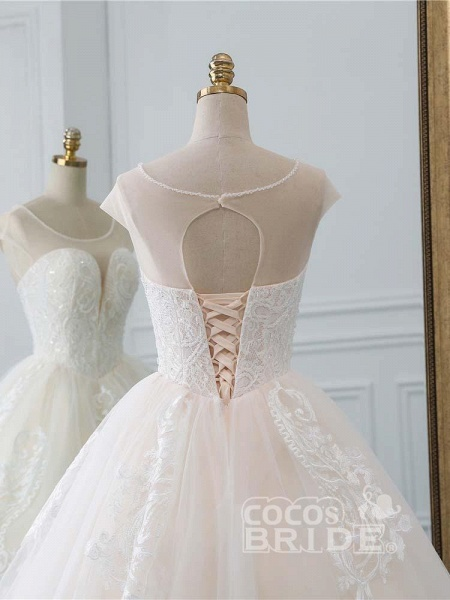 Lace-Up Ball Gown Wedding Dresses_5