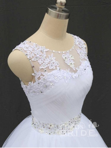 Gorgeous Lace Up Ball Gown Wedding Dresses_4