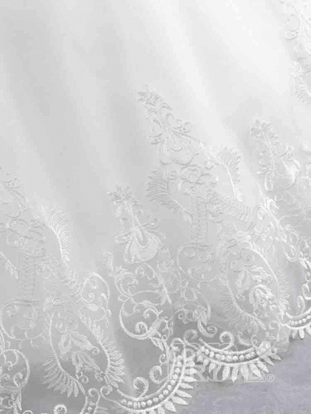 Gorgeous Cap Sleeves Sequins Lace-Up Ball Gown Wedding Dresses_6