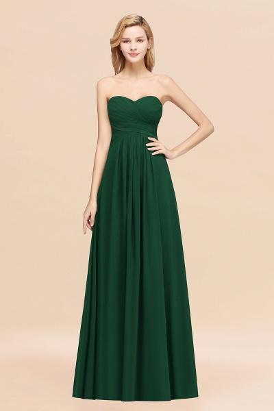 A-line Chiffon Sweetheart Strapless Ruffles Floor-length Bridesmaid Dress_31