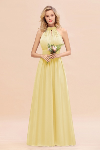 BM0758 Glamorous High-Neck Halter Bridesmaid Affordable Dresses with Ruffle_18