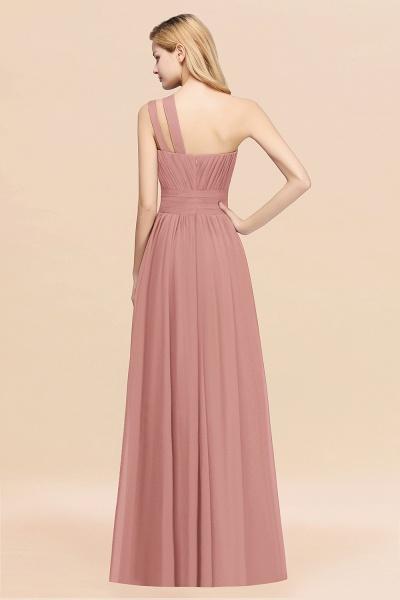Elegant A-Line Burgundy Chiffon One-Shoulder Sleeveless Ruffles Floor-Length Bridesmaid Dresses_54