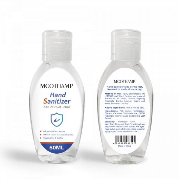 Instant Travel Size Disposable Hand Sanitizer 75% Alcohol 20 bottles*50ml_4