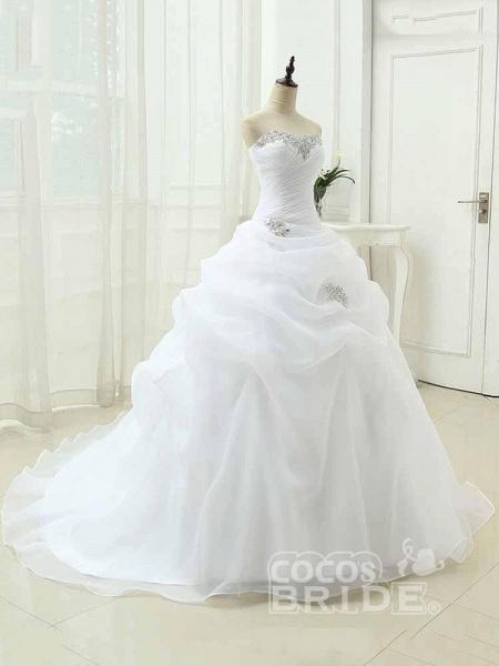 Gorgeous Sweetheart Ruffles Wedding Dresses_3