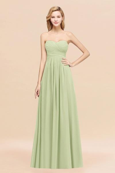 A-line Chiffon Sweetheart Strapless Ruffles Floor-length Bridesmaid Dress_35