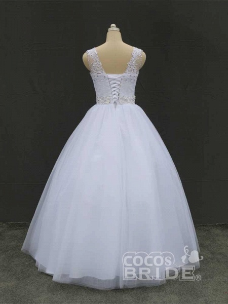 Gorgeous Lace Up Ball Gown Wedding Dresses_3
