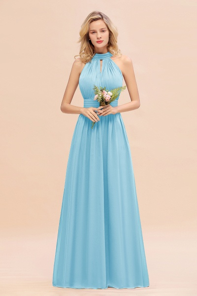 BM0758 Glamorous High-Neck Halter Bridesmaid Affordable Dresses with Ruffle_23