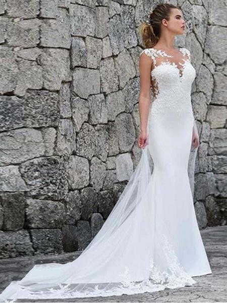 Gorgeous Mermaid Tulle Wedding Dresses_1