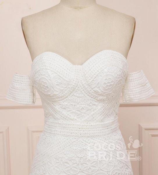 Modest Sweetheart Neck Lace Beach Sexy Boho Wedding Dress_6