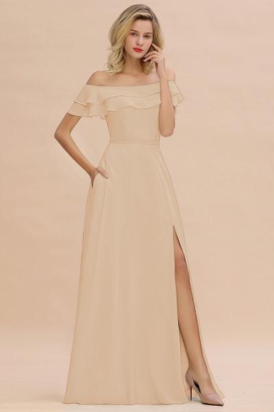 BM0775 Off-the-Shoulder Front Slit Mint Green Long Bridesmaid Dress_14