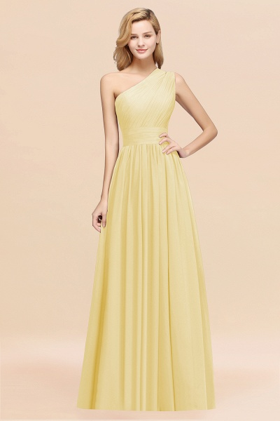 Elegant A-Line Burgundy Chiffon One-Shoulder Sleeveless Ruffles Floor-Length Bridesmaid Dresses_18