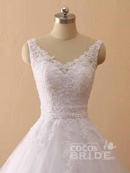 Gorgeous Spaghetti Strap V-Neck Backless Wedding Dresses_5