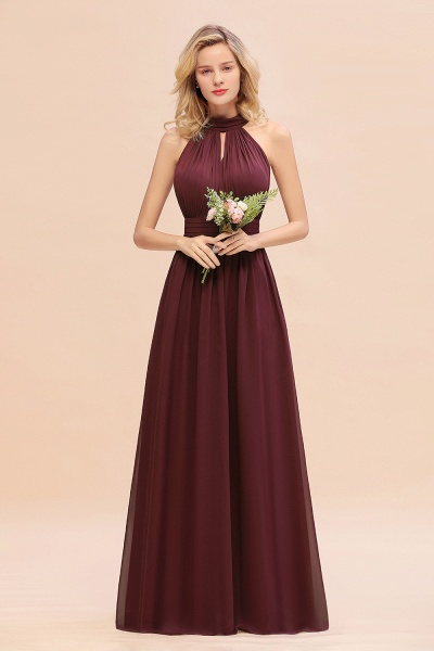 BM0758 Glamorous High-Neck Halter Bridesmaid Affordable Dresses with Ruffle_10
