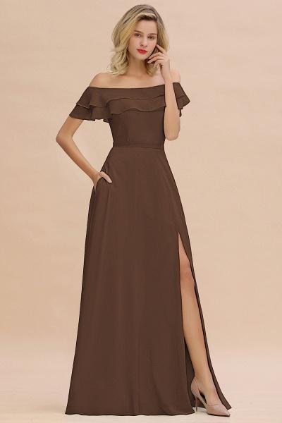 BM0775 Off-the-Shoulder Front Slit Mint Green Long Bridesmaid Dress_12