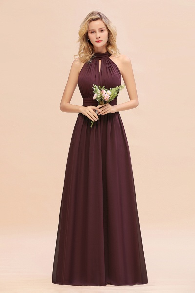 BM0758 Glamorous High-Neck Halter Bridesmaid Affordable Dresses with Ruffle_47