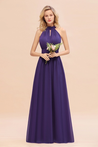 BM0758 Glamorous High-Neck Halter Bridesmaid Affordable Dresses with Ruffle_19