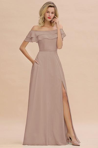 BM0775 Off-the-Shoulder Front Slit Mint Green Long Bridesmaid Dress_16