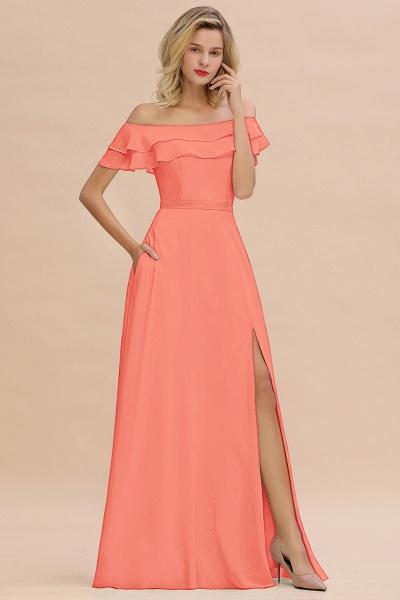 BM0775 Off-the-Shoulder Front Slit Mint Green Long Bridesmaid Dress_45