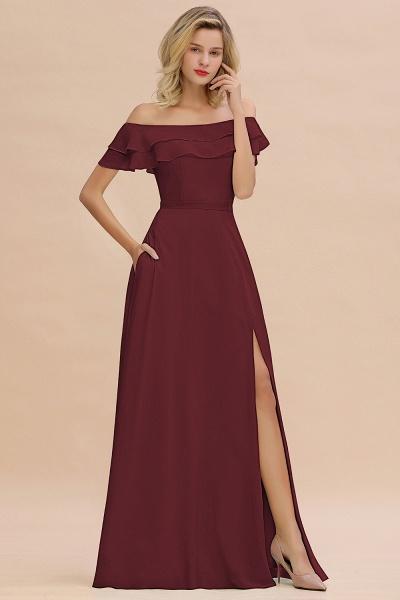 BM0775 Off-the-Shoulder Front Slit Mint Green Long Bridesmaid Dress_10