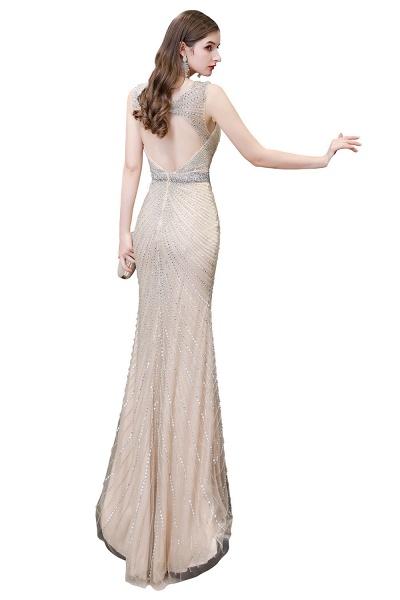 Sexy Mermaid V-neck Silver Long Prom Dress_30