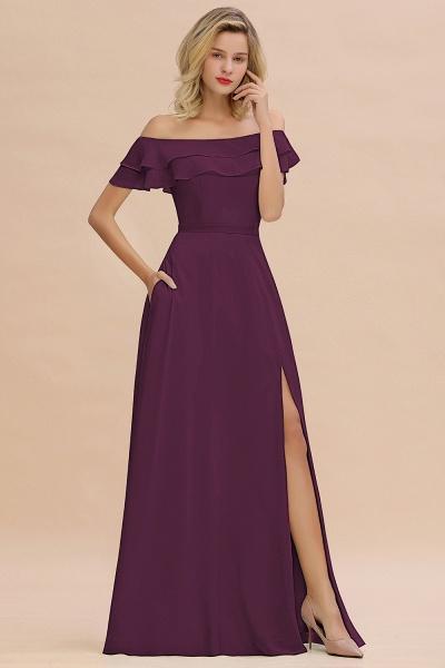 BM0775 Off-the-Shoulder Front Slit Mint Green Long Bridesmaid Dress_20
