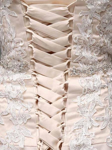 Elegant Sweetheart Beaded Lace Tulle Wedding Dresses_4