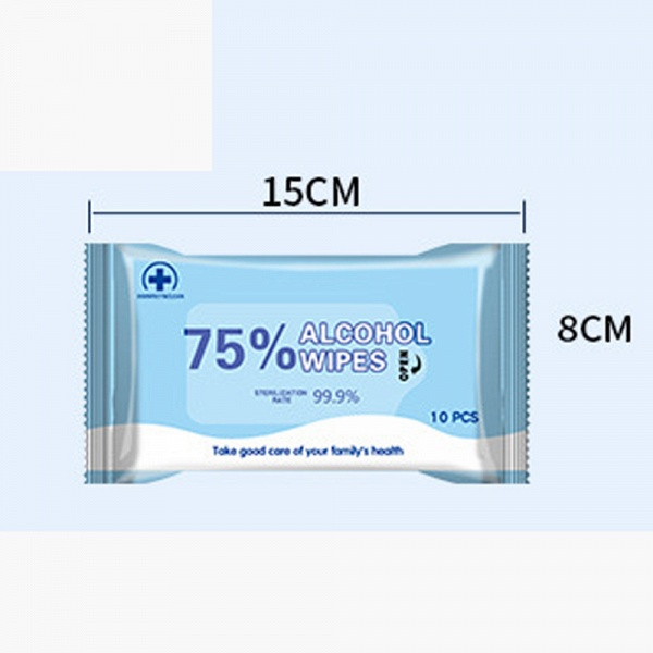 10pcs/box Health Care Disinfection 75% Alcohol Swabs Wet Wipes Antiseptic Skin Care_3