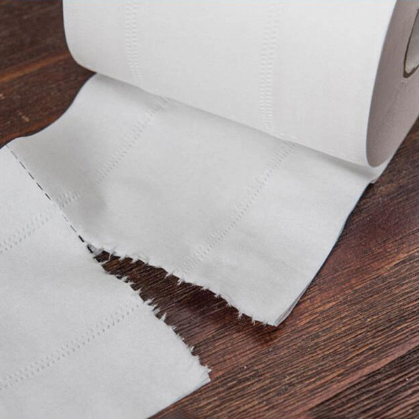 10 Roll 4ply White Toilet Paper Native Wood Pulp Tissue Hollow Replacement Roll Paper_13