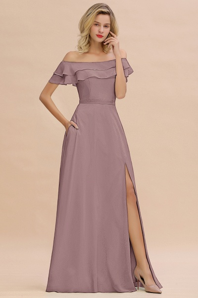 BM0775 Off-the-Shoulder Front Slit Mint Green Long Bridesmaid Dress_37