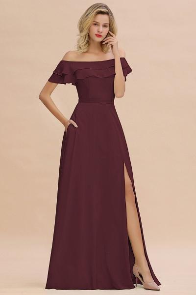 BM0775 Off-the-Shoulder Front Slit Mint Green Long Bridesmaid Dress_47