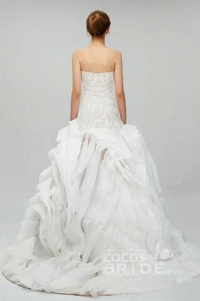 Gorgeous Sweetheart Detachable Sleeves Unique Wedding Dress_2