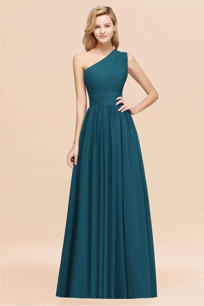 Elegant A-Line Burgundy Chiffon One-Shoulder Sleeveless Ruffles Floor-Length Bridesmaid Dresses_27