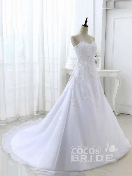 Elegant Sweetheart Lace-Up Mermaid A-Line Wedding Dresses_4