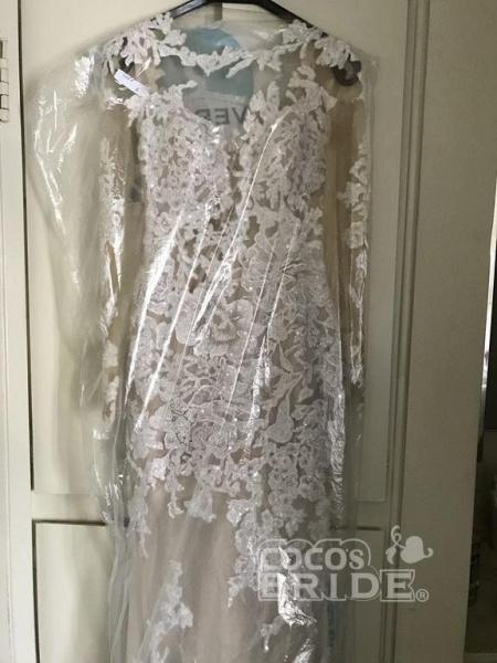 Pretty Lace Mermaid Long Sleeves Wedding Dress_4